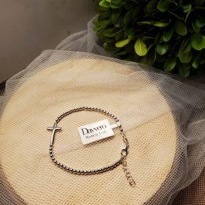 Davvero Cross Bracelet .925 Silver Made In Italy